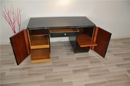 Art Deco SChreibtisch, Regalboden
