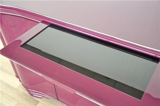 Hochglanzlack in Flieder / Lila, Art Deco SIdeboard