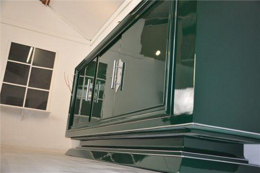 Art Deco Sideboard, grader Korpus, Jaguar Green