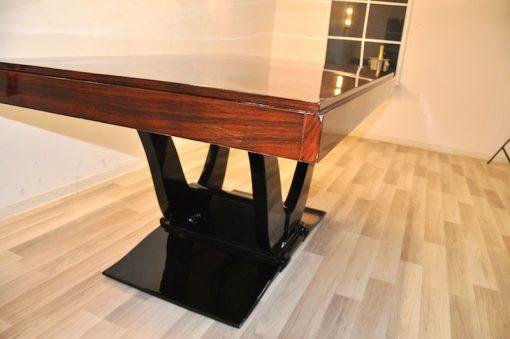 Art Deco Esstisch, Palisanderholz