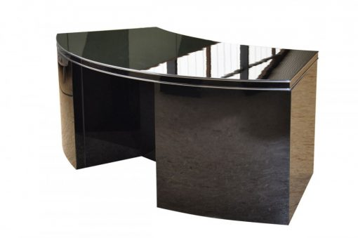 Formschoener Art Deco Schreibtisch, Frankreich, Rollcontainer