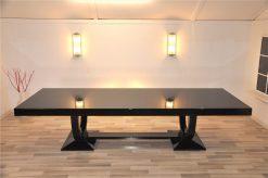 Art Deco Esstisch, Set mit Stühlen