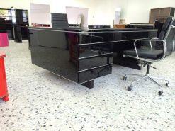 Nauhaus Schreibtisch, Partnerdesk. Hochglanzschwarz