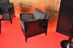 Art Deco Sessel, Anilinleder