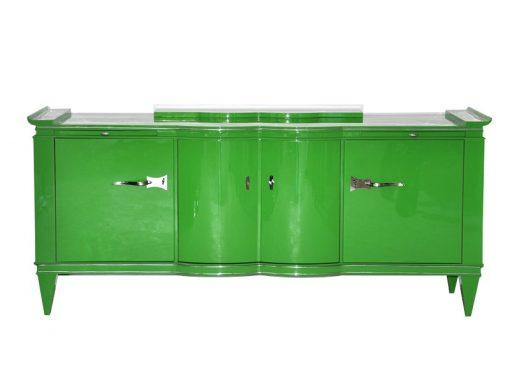 Art Deco Sideboard, Giftgrün, feinste Details