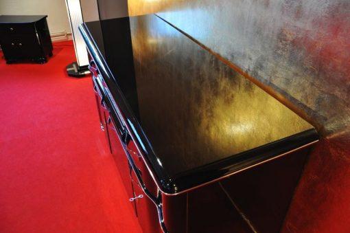 Art Deco Sideboard, Belgien, Klavierlack