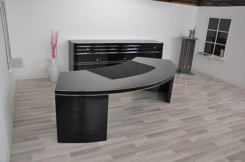 antiker bauhaus chef schreibtisch xxl mit halbrunder form. Black Bedroom Furniture Sets. Home Design Ideas