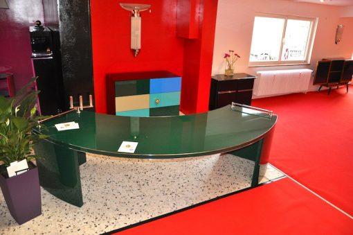 Art Deco Schreibtisch, Jaguar Racing Green