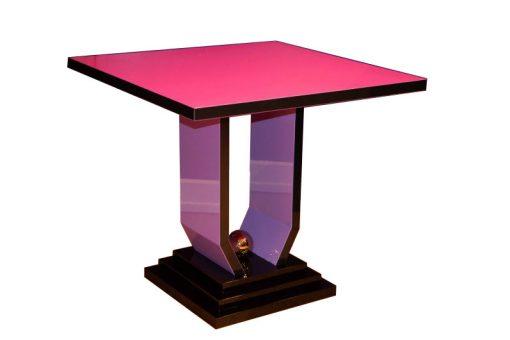Art Deco Tisch, Crazy Art Deco, Margarethe Schreinemakers, streng limitiert, Bunt, Lila, schwarz, Beistelltisch, Design, einzigartig