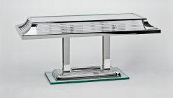 elegante Tischlampe Paris, tolles Art Deco Design, feine Chromelemente, Handgefertigt
