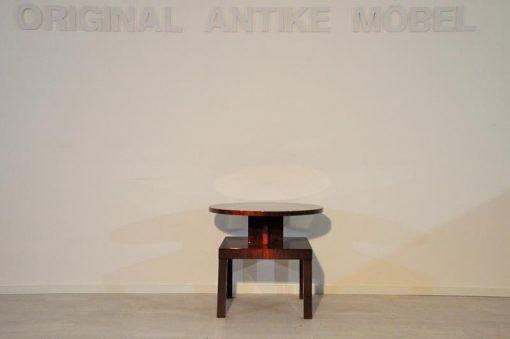 Art Deco, antik, original, selten, Tisch, Beistelltisch, Hochglanz, Wallnuss, Unikat, elegant, Wohnzimmermöbel, restauriert, französisch,
