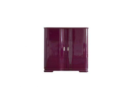 Art Deco Barschrank La Vie, Design by Margarethe Schreinemakers, ausgefallener Fliederton, wundervolle Flügeltüren, tolles Design