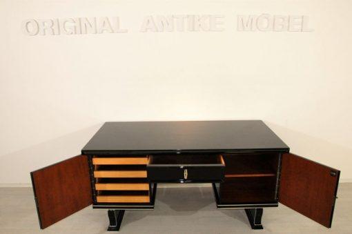 Schreibtisch_Klavierlack_mit_Chromleisten_5