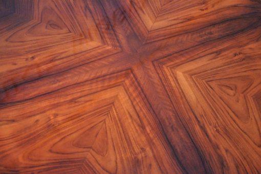 Art Deco, Beistelltisch, Tisch, Design, Nussbaumholz, Wohnzimmer, Restoration, Hochglanz, Lack, Glassplatte, Wohnzimmer, Edel, Luxus