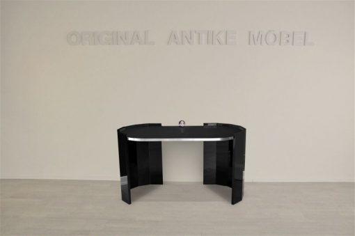 Schreibtisch, elegant, Kalvierlack, modern, Damenschreibtisch, Chromkugel, Hochglaenzend, Design, Luxurioes, Schmuckstueck_2