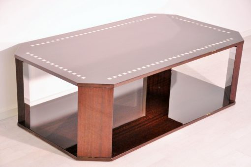 Art Deco, Moebel, Design, Elfenbein Farbe, Hochglanz, Restauriert, 1950er, Wohnzimmer, zwei Tischplatten, schlichtes und einfache Form