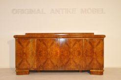 Sideboard, Moebel, Wohnzimmer, Frankreich, Art Deco, Nussbaum, Funier, Stilmoebel, braun, Design, Luxus, buffetdunkel, unrestauriert