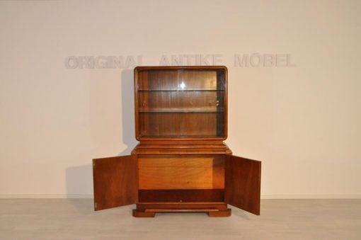 Art Deco, Sideboard, Kommode, Vitrine, Wohnzimmer, Walnussholz, made in germany, Handarbeit, 1930, unrestauriert, stillvoll