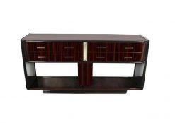 Art Deco, Konsole, acht Schubladen, Klavierlack, schwarz, design, modern, außergewöhnlich, Wohnzimmer, Konsolentisch, sideboard
