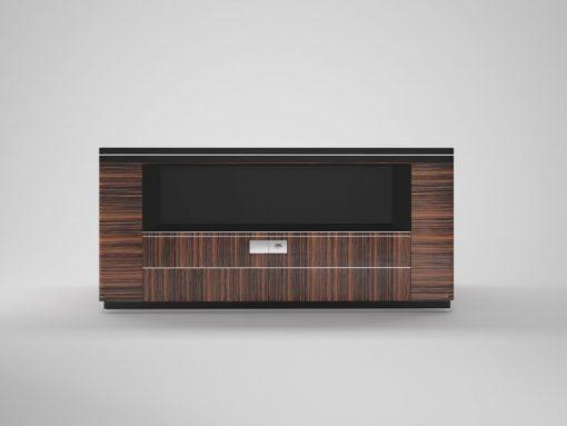 art, deco, schreibtisch, makassar, doppelseitig, braun, schwarz, schubladen, groß, breit, design, luxus, büro, wohzimmer,