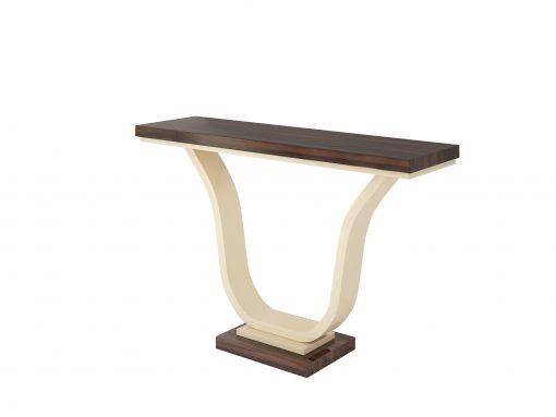 Makassarholz und Elfenbeinlack Design Konsolentisch, Art Deco Desgin, Luxusmoebel, Tische, Konsolen, Moebel, Innendesign, Wohnzimmer