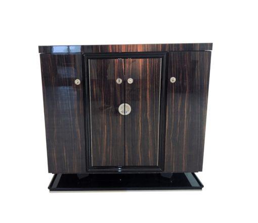 Art Deco Makassar Holz Kommode 1930er, Designmöbel, Luxusmöbel, Makassarholz, Möbel, Kommoden, Hochglanz-Möbel, französische Kommoden