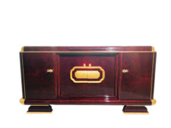 Art Deco Sideboard Kaukasisches Nussbaumholz und Blattgold, Art Deco Möbel, Design, Luxus-Mobel, Antiquitäten, Blattgold Möbel, Buffet